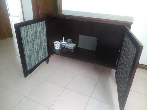 ! oferta ! mueble gavetero gabinete de madera y tela