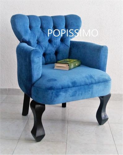 *** oferta solo hoy sillon tapizado vintage + gratis envio