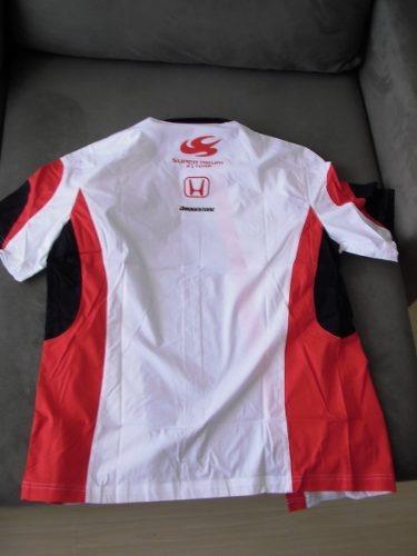* oficial honda super aguri f1 - m - camisa original *