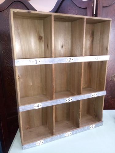 *-* organizador rustico de madera farmhouse *-*