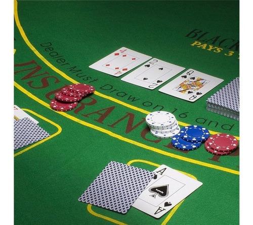 ¡ paño de poker 7 puestos estampado de 36 x 72 pulgadas  !!