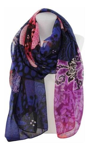& pañuelo desigual nuevo tonos morado lila