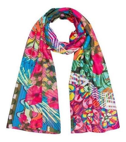 & pañuelo nuevo desigual flores rayas