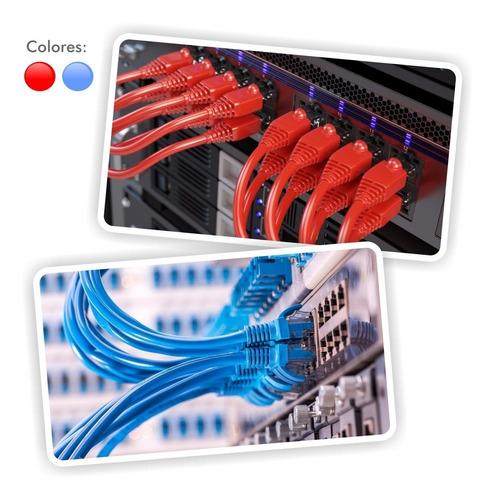 ¡ patch cord cat 5e powest 3ft (1m) rojo nicomar !!