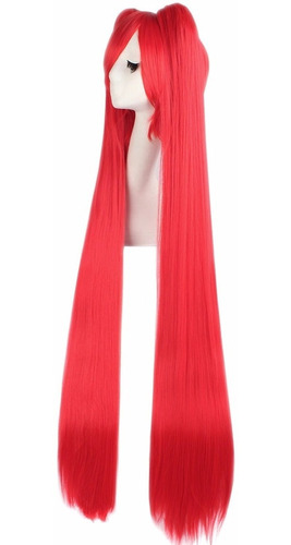 ¡ peluca miku 120cm rojo extralarga hatsune cosplay !