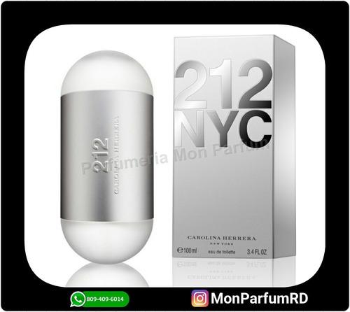 ** perfume 212 damas by carolina herrera. entrega inmediata