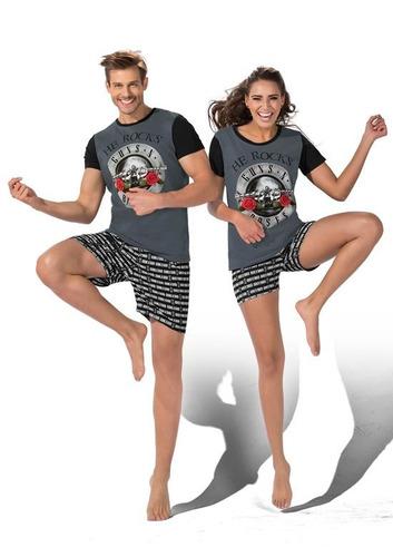 ' pijama ferrato guns & roses caballero negro y gris 1350470