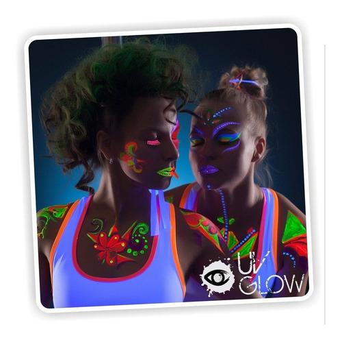 ¡ pintura neón fucsia uv glow body paint fluorescente !!