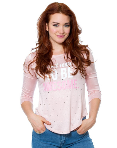 . playera dolbie association  spandex color rosa los-3002