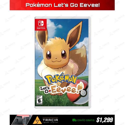 [ pokémon let's go eevee! ] nuevo nintendo switch | tracia