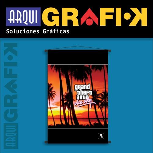 Posters Banners De Juegos Gta Vice City 330 00 En Mercado Libre
