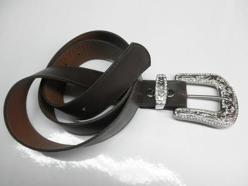 ( promoção) cinto country 43 mm em couro ,com strass