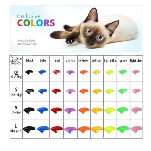 ¡ protector de uñas para gatos nails caps-violeta - t.s !!