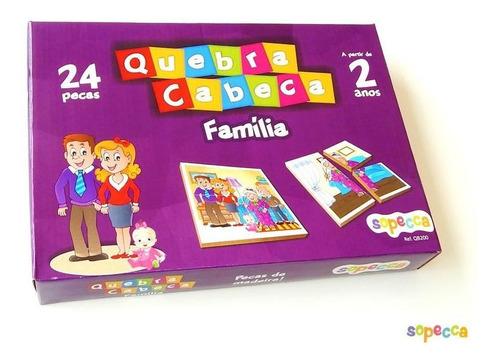 -quebra-cabeça família 24 peças - sopecca qb200