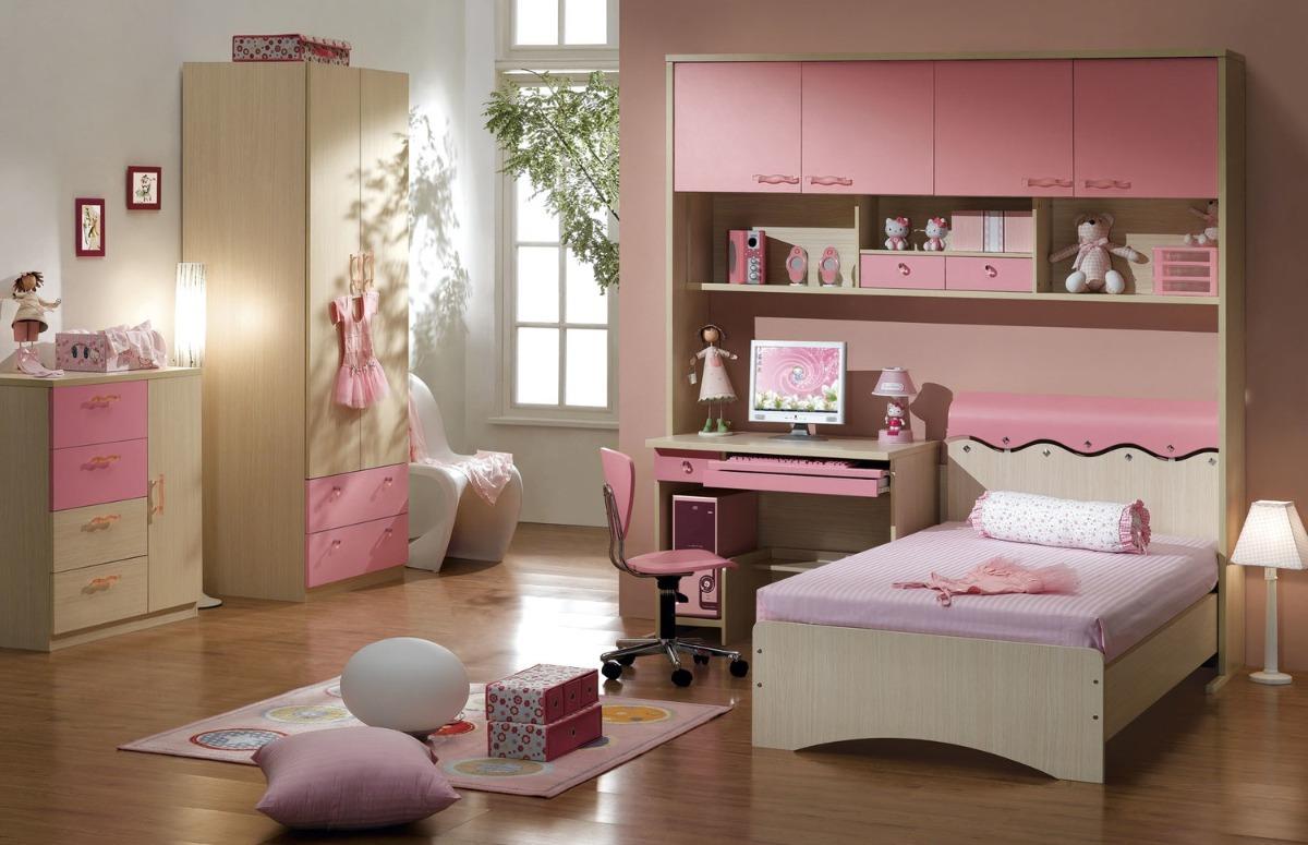 Recamara completa para ni a rosa 8 en mercado libre - Habitaciones de nina decoracion ...