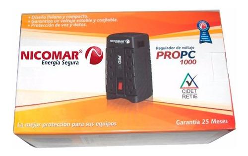 ¡ regulador electrónico voltaje pro pc 1000 8 puntos 1kva !!