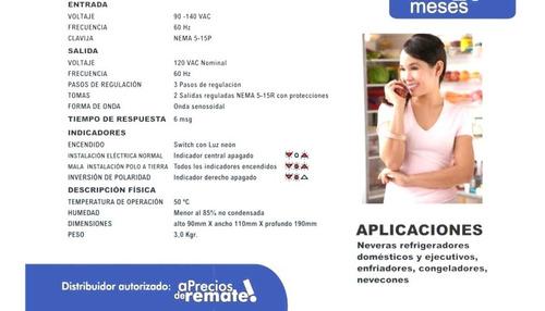 ¡ regulador voltaje 2000va refriline 2kva nevera refriger !!