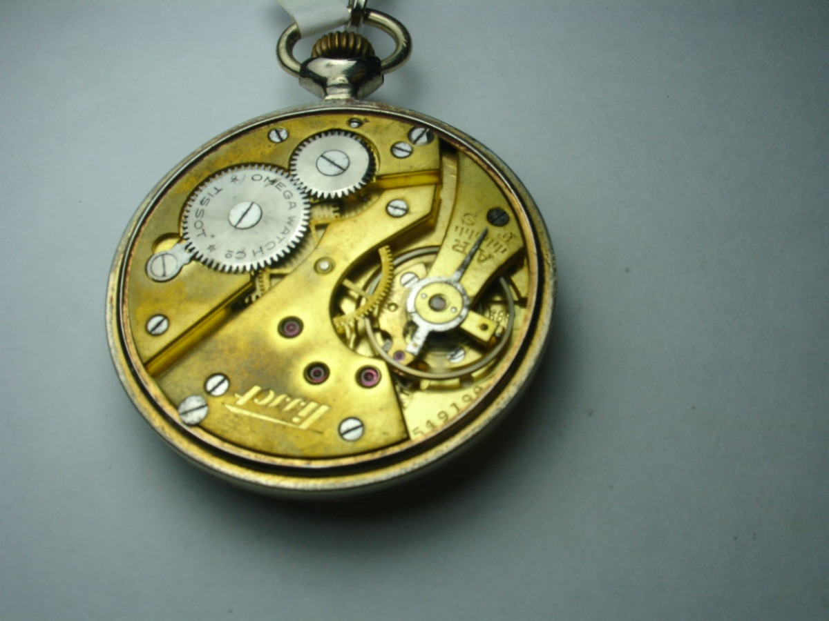 6e95a5dfc89 Relógio De Bolso 12   Omega Watch Co Tissot Made In Swiss - R  489 ...