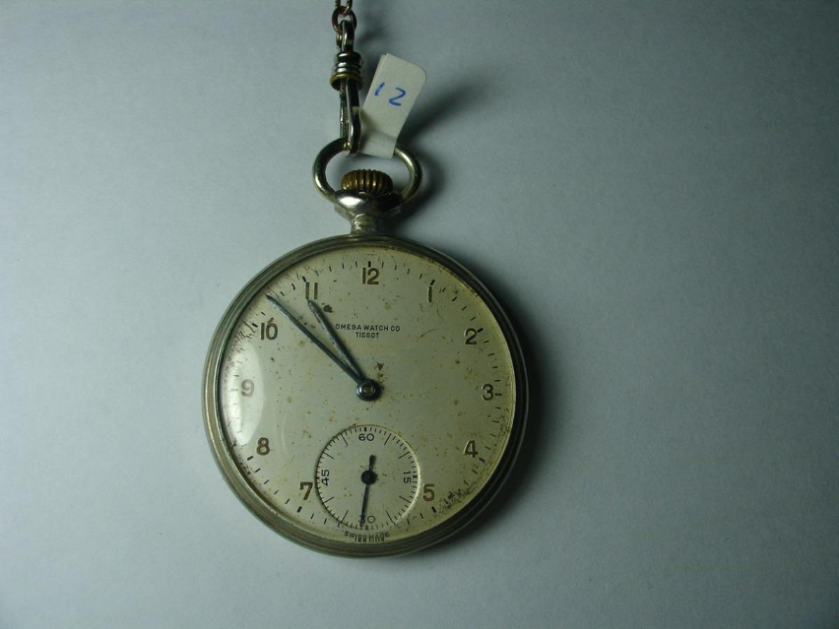 be5e003daa2 Relógio De Bolso 12   Omega Watch Co Tissot Made In Swiss - R  489 ...