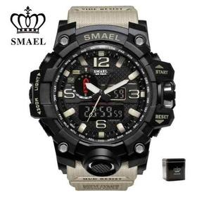 Relógio Smael Original Na Caixa Tatico Militar Prova D'agua