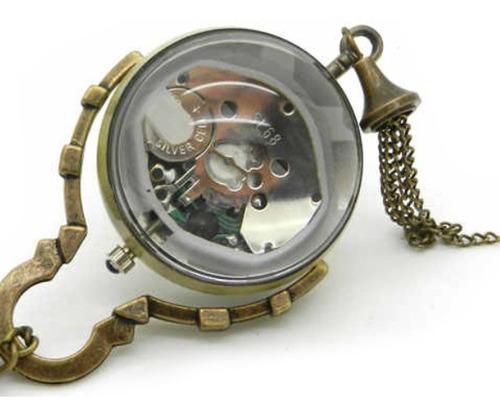 ¡ reloj ojo de buey mecanismo visible tipo colección new !!