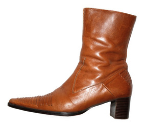 estilo popular Super baratas gama exclusiva ** Remate Botas Vaqueras Cortas Color Miel De Piel Del No 4