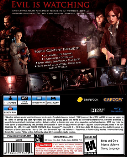 ..:: resident evil revelations 2  ps4 ::.. en game center