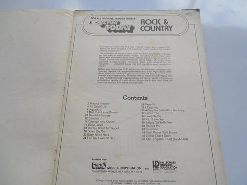 + rock & country. curso de órgano, en inglés.