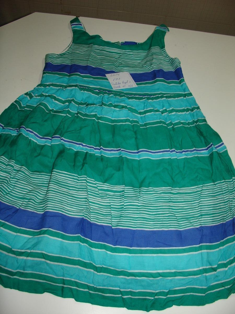91cca03e2b2d1 Roupa Lote 171 Menina Vestido Azul E Verde Listrado Zara - R  78,89 ...