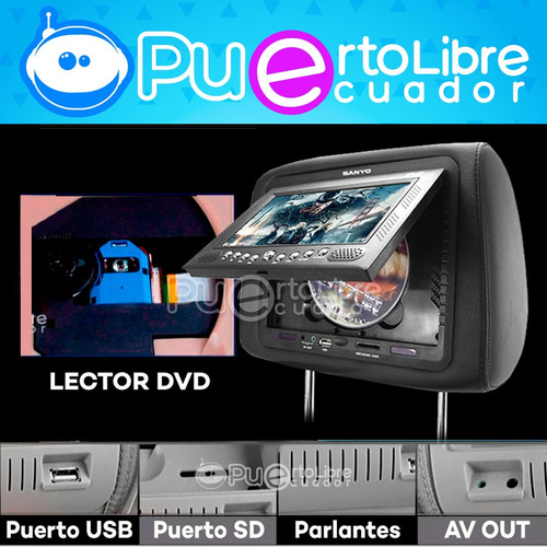 = s a n y o = pantalla cabeceras dvd usb + juegos + control
