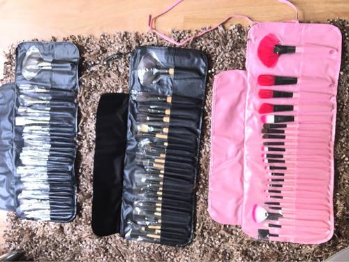 ! set de 24 brochas y pinceles para maquillaje  profesional!