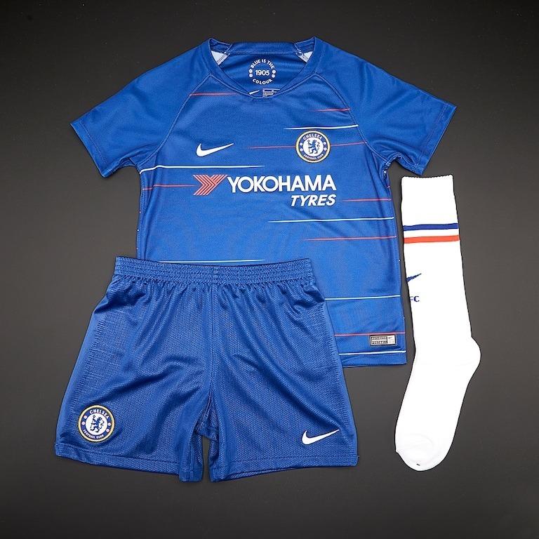 Sin Stock !! Conjunto Camiseta Chelsea Kit Niños 2018 19 -   3.500 ... 4cb69af49b50f
