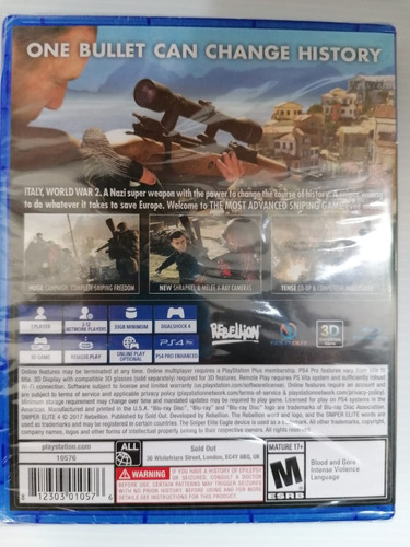 ..:: sniper elite 4 ::.. para playstation 4 en game center