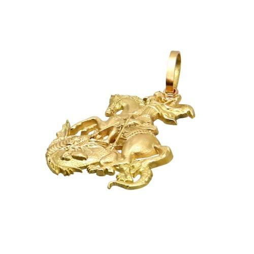 - são jorge detalhado - . ouro 18k. rubia colonial joias.
