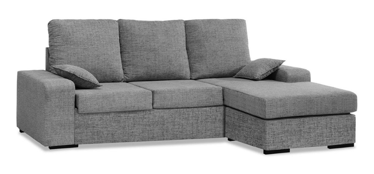 Sofa Chaise Mobible Americano 3c Tela Antimancha Living $ 23 900