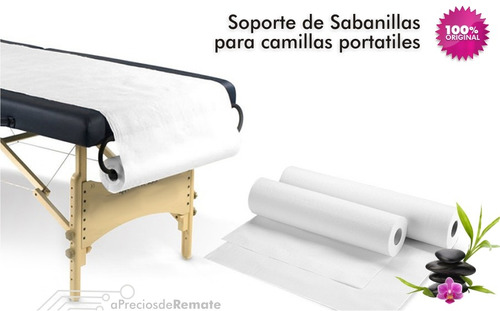¡ soporte porta sábanas, sabanillas para camilla masaje !!