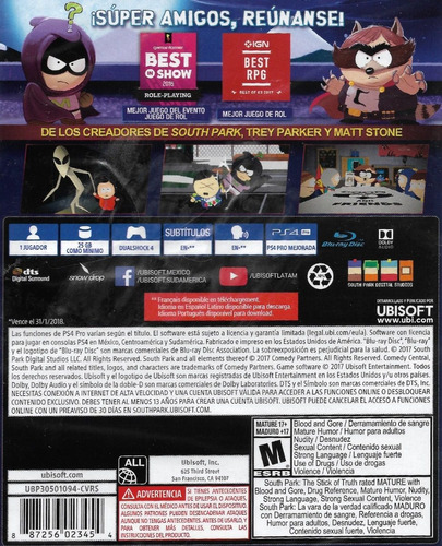..:: south park the fractured but whole ::.. ps4 game center