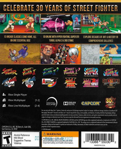 ..:: street fighter 30 aniversario ::.. para xbox one en gc