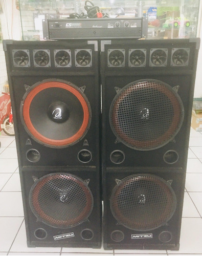 --- super sonido amplificador backstage cs8000 bajos cajones