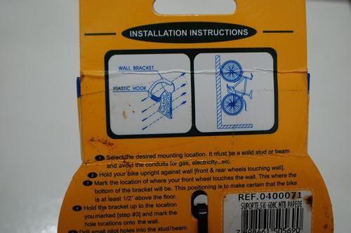 * suporte bike de parede vertical em aço marca sunnywheel *