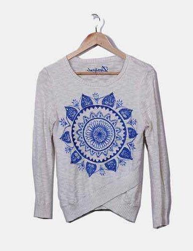 & sweater blanco desigual m nuevo con envío gratis