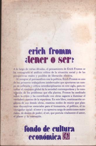 ¿ tener o ser ? - erich fromm