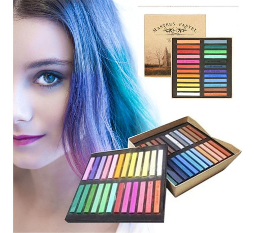 ¡ tiza temporal color hair chalk cabello mechas mechones !!