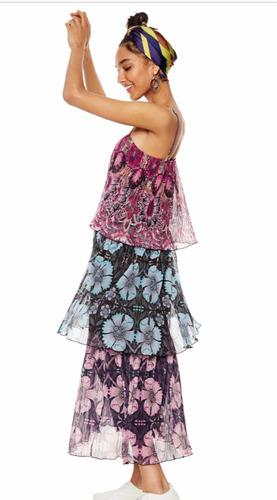 & vestido capas desigual plisado m nuevo con envío