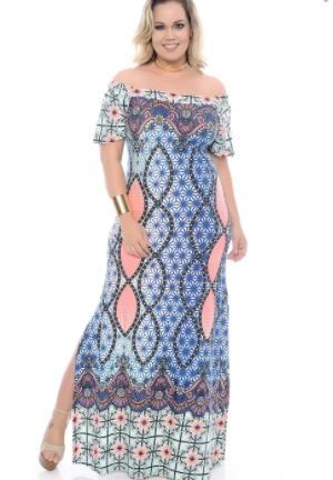 02aad3fd8 Vestido Longo Barrado Estampado - R$ 269,00 em Mercado Livre