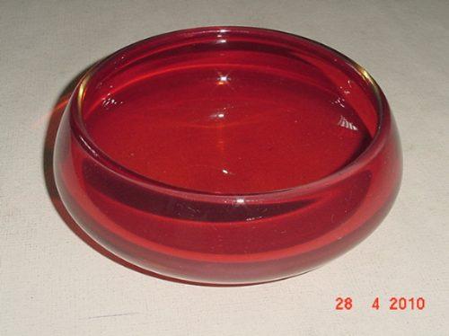 * vidro decorativo - maciço - vermelho *