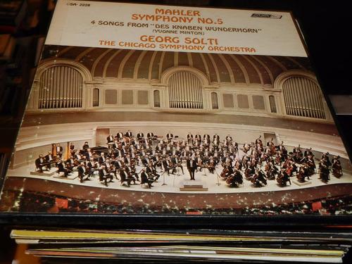 * vinilo 0518 - mahler -  sinfonia n° 5 - orq chicago   2 lp