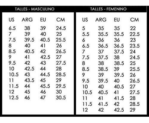 tabla de tallas nike air max