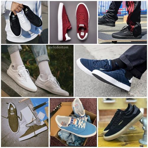 *+* zapatos adidas 3mc vulc   black gum   black gum *+*