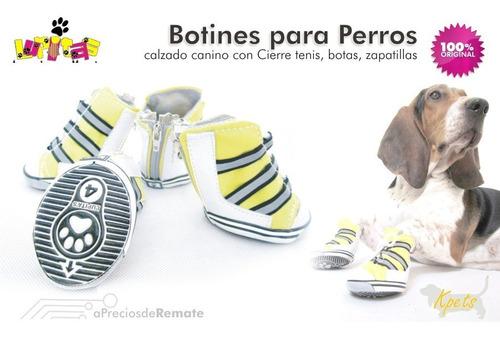¡ zapatos botines kpets tipo bota cierre perros mascotas !!